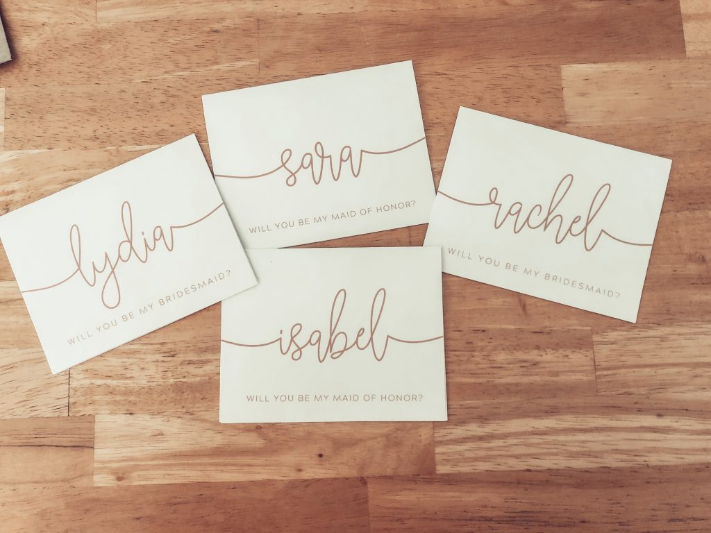Wedding Planning Woman's bridesmaid cards