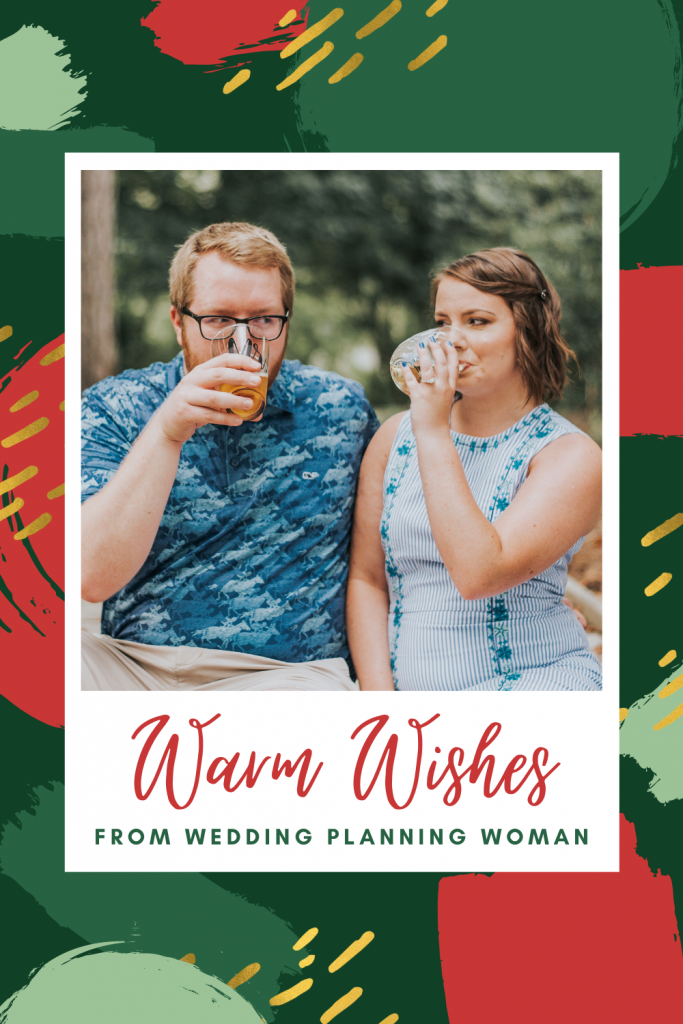 Warm wishes from wedding planning woman