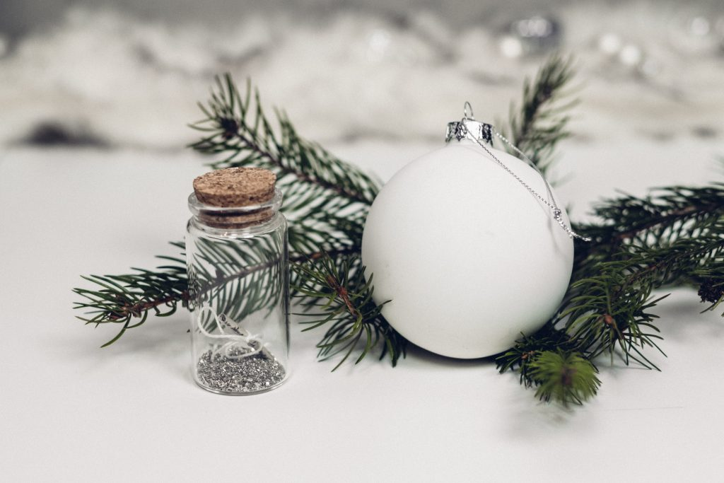 Gift for engaged couple - custom ornament