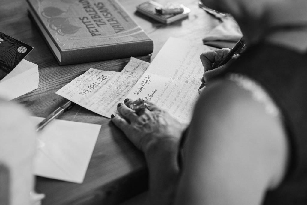 Writing wedding invites