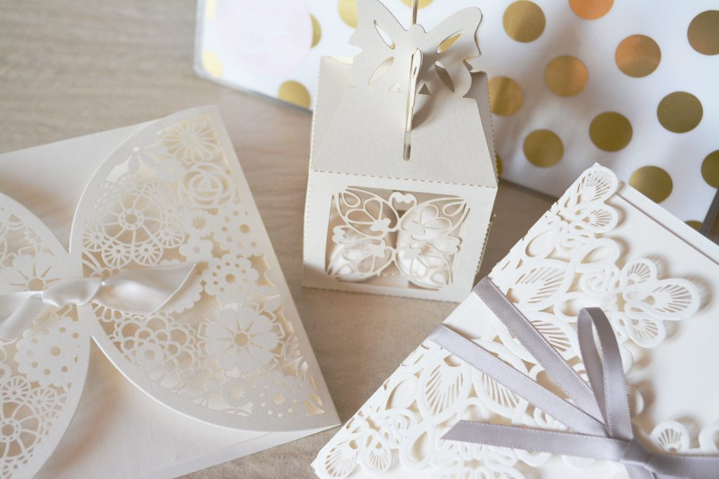 Beautiful lace save the dates