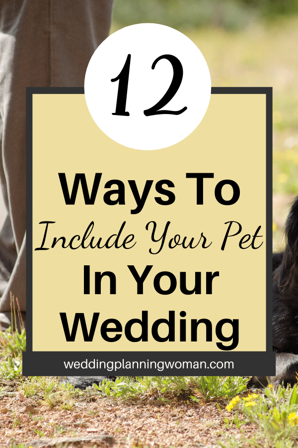 12 ways to include your pet in your wedding