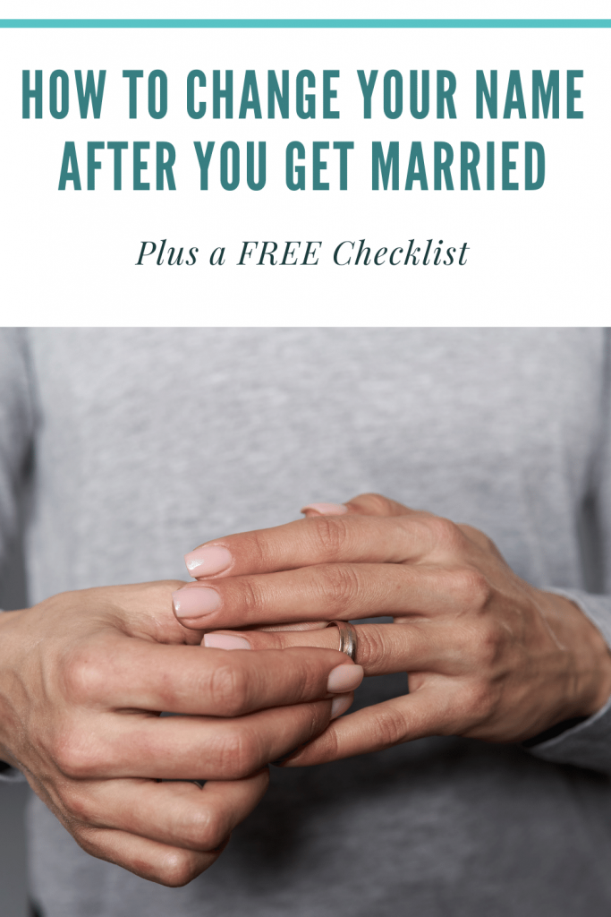 How to change your name after you get married plus a free checklist