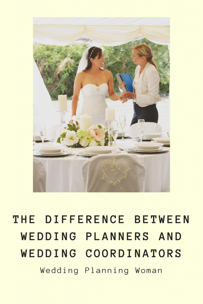 The difference between wedding planners and wedding coordinators