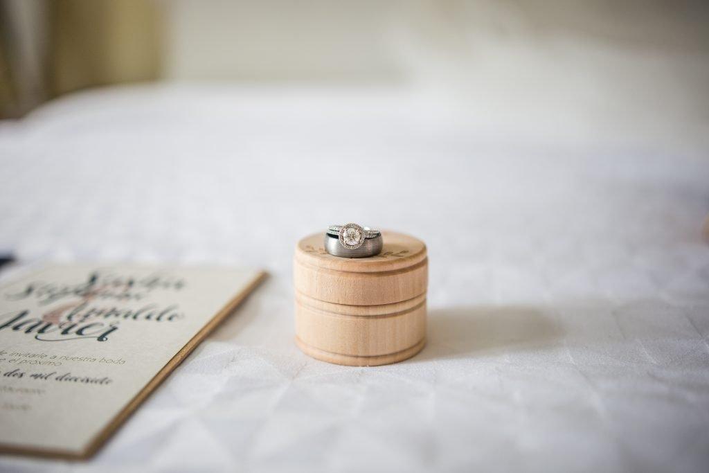 Display of wedding rings