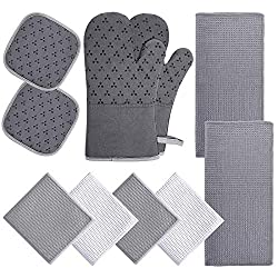 Kitchen towels and potholders