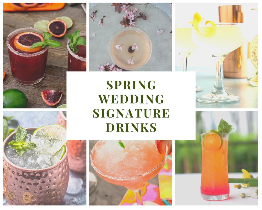 Spring Wedding Signature Drinks