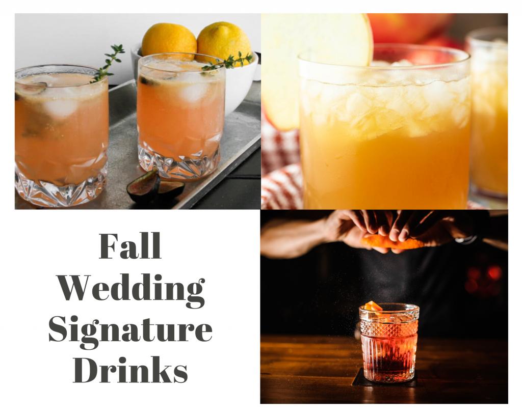Fall Wedding Signature Drinks