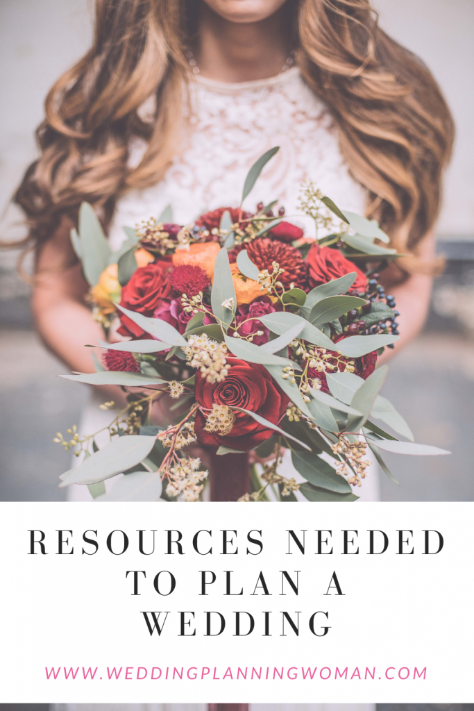 Resources needed to plan a wedding