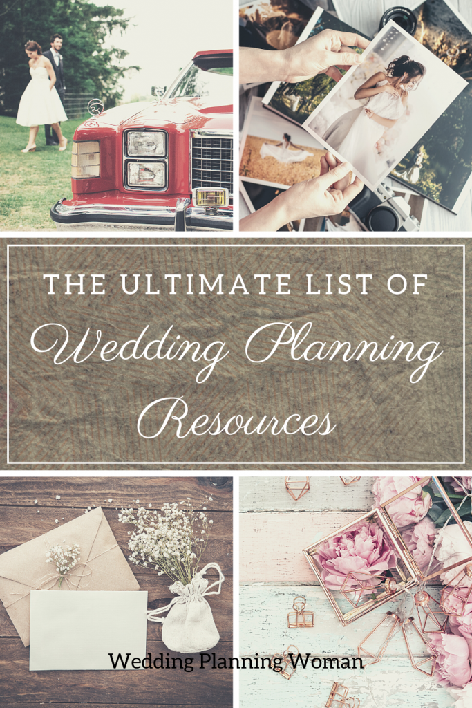 Resources needed for planning a wedding