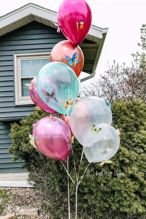 Butterfly Balloons - Easy DIY Bridal Shower Decorations
